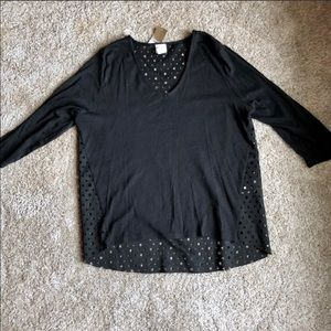 Chico's Cutout Sweater